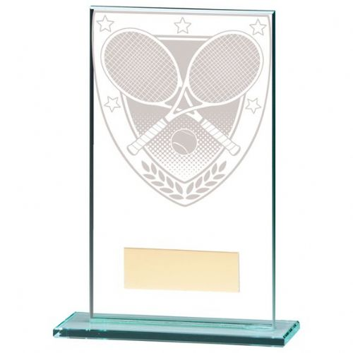 Millennium Tennis Jade Glass Award 140mm